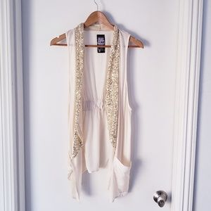 Free People Light Sequined Vest